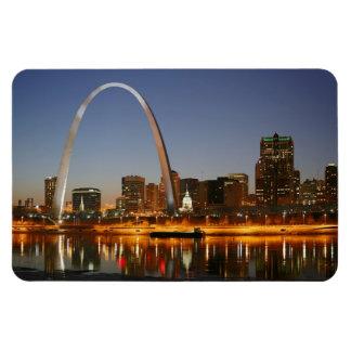 Gateway Arch St. Louis Mississippi at Night Rectangular Photo Magnet
