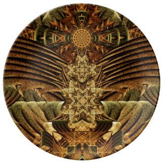 Gateway of the Ancients Mandala Porcelain Plates
