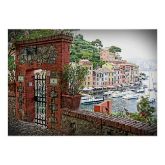Gateway to Paradise - Portofino, Italy Poster