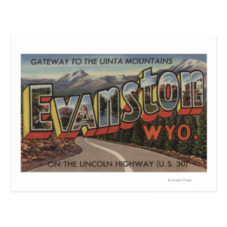 Gateway to the Uinta Mountains - Evanston, WY Postcard