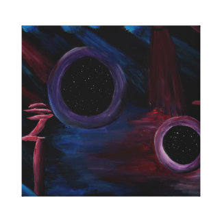 Gateways space sci-fi painting canvas print
