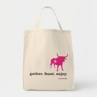 gather.feast.enjoy. tote bag