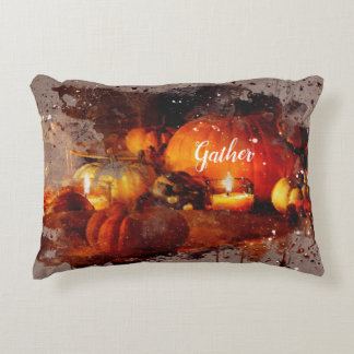 """Gather"" Thanksgiving Decorative Decorative Pillow"