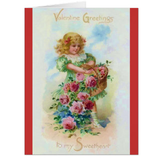 Gather the Rose of Love Valentine Big Greeting Card