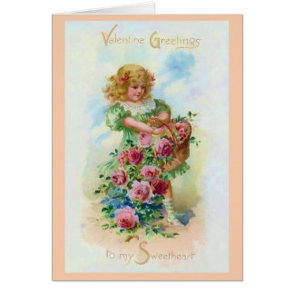 Gather the Rose of Love Valentine Greeting Card