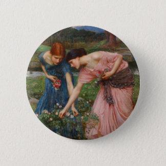 Gather Ye Rosebuds by John W. Waterhouse 2 Inch Round Button