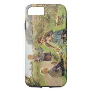 Gathering Flowers (oil on canvas) iPhone 7 Case