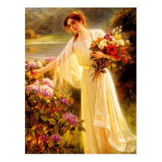 Gathering Flowers Postcard