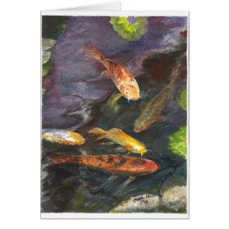 Gathering of Koi fish Card