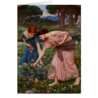 Gathering Rosebuds Card