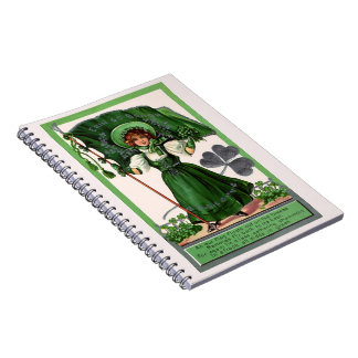 Gathering Shamrocks Spiral Notebook