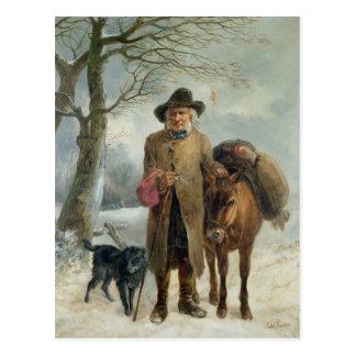 Gathering winter fuel postcard
