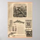 Gatling Gun Company Schuyler, Hartley and Graham Poster