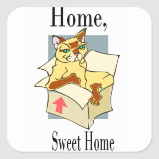GATO-NO-BOX SQUARE STICKER