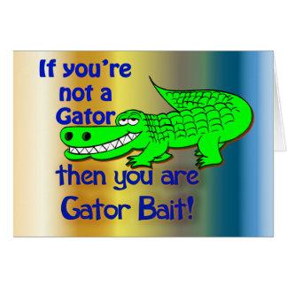 Gator Bait Greetings Card