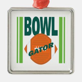 Gator Bowl Metal Ornament