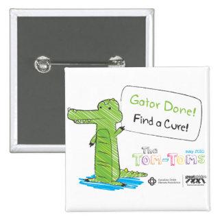 Gator Done! 2 Inch Square Button