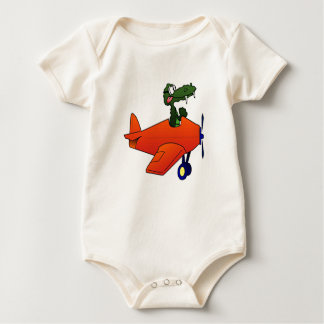 Gator Flying Plane Baby Bodysuit