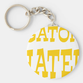 Gator Hater Athletic Gold design Keychain