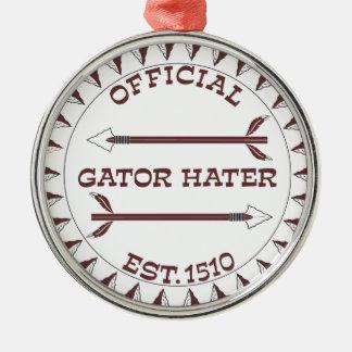 Gator-Hater-est-garnet.gif Silver-Colored Round Ornament