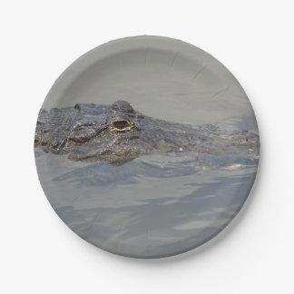 Gator In Wait Paper Plate