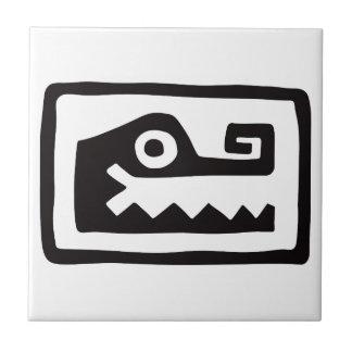 Gator, Mexican hieroglyph(Maya) Tile