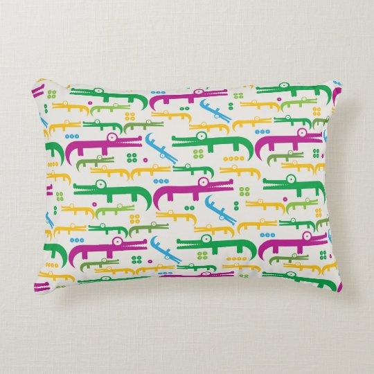 Gator Pattern Pillow