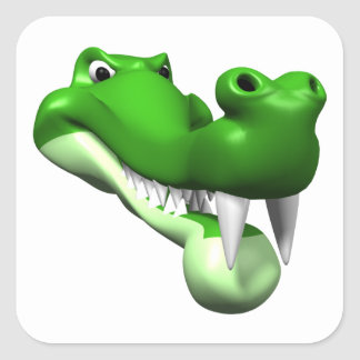 Gator Square Sticker