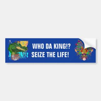 Gator, Who Da King!?  with The King Bumper Sticker