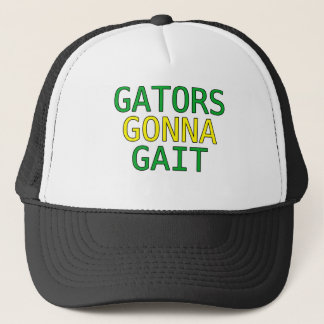 Gators Gonna Gait Funny Alligator Meme T-Shirt Trucker Hat