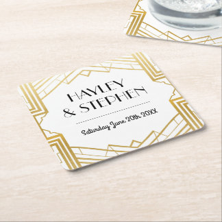 Gatsby Art Deco 1920's Coasters Wedding Party