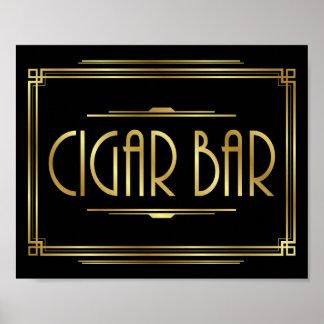 Gatsby Art Deco CIGAR BAR Sign Print