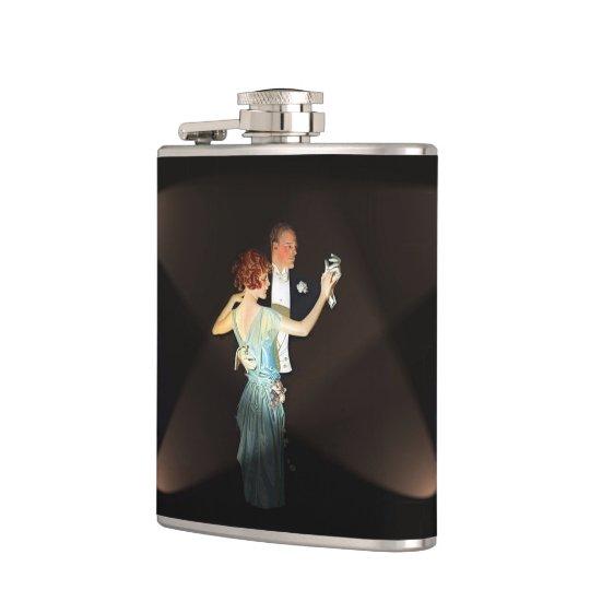 Gatsby Couple Hip Flask