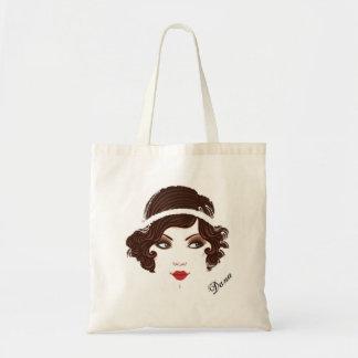Gatsby Gold Girl Tote Bag