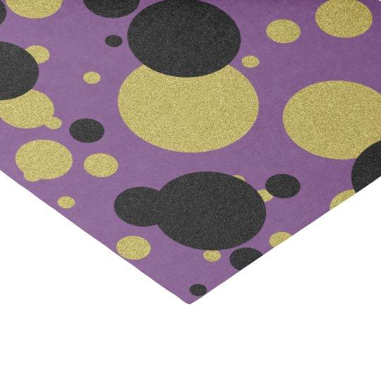 Gatsby Gold Purple Sparkle Polka Dot Tissue Paper