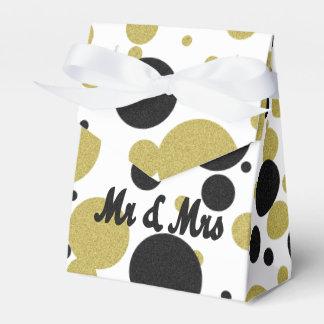 Gatsby Gold Sparkle & Shimmer Polka Dot Favor Box