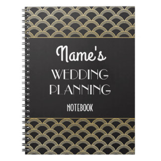 Gatsby Notebook Art Deco Wedding Planning Notes