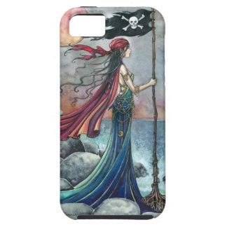 Gauche derrière la femme gothique de pirate iPhone 5 case