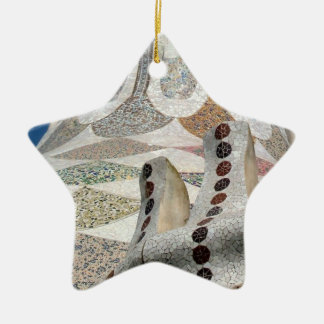 Gaudi Castle Abstract Ceramic Ornament