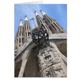 Gaudi Cathedral, Barcelona Spain Card