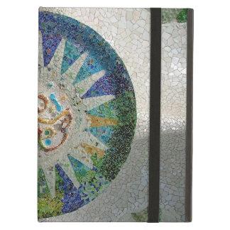Gaudi flower - Art Nouveau floral tiles iPad Air Cover