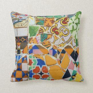 Gaudi Mosaic Throw Pillow