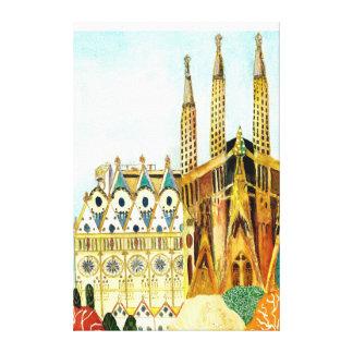 Gaudi 's Barcelona. Canvas Print