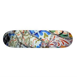 Gaudi s Park Guell Mosaic Tiles Skateboard Deck