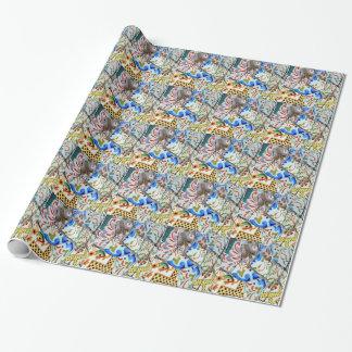 Gaudi's Park Guell Mosaic Tiles