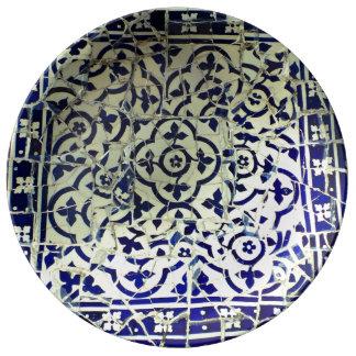Gaudi's Park Guell Mosaic Tiles Barcelona Plate