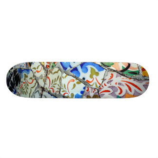 Gaudi's Park Guell Mosaic Tiles Skateboard Deck