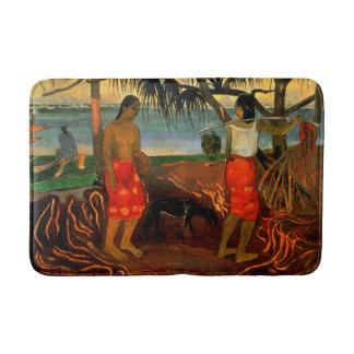 Gauguin - Beneath the Pandanus Tree Bath Mat