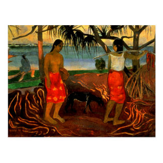Gauguin - Beneath the Pandanus Tree Postcard