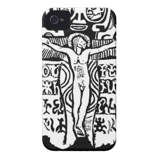 Gauguin Crucifix iPhone 4 Covers